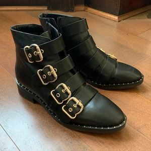 ASOS Design Avid Leather Studded Ankle Boots